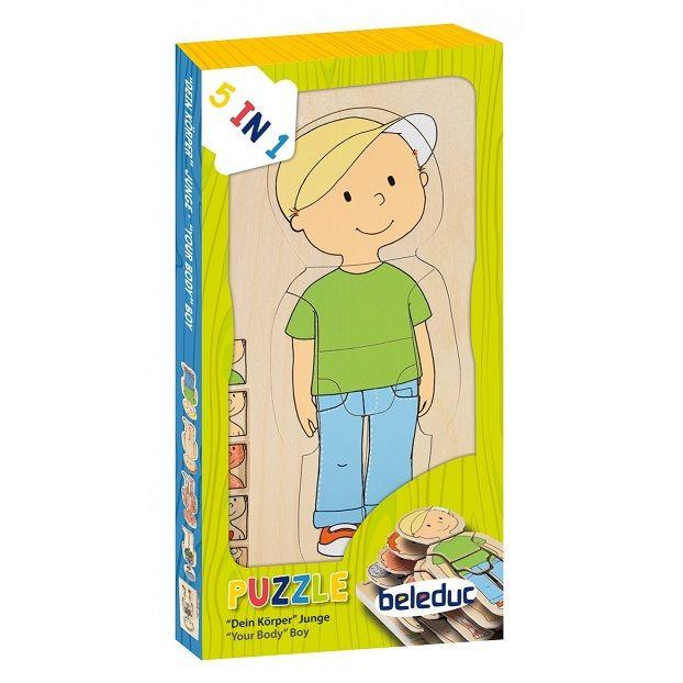 Puzzle in legno multilivello bambino BELEDUC