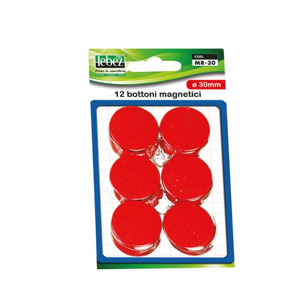 Blister 12 Magneti Mr 30 Rosso Diam 30mm Mr 30 R 8007509002452