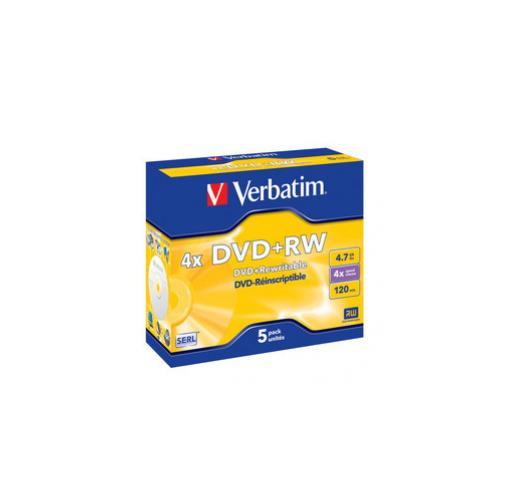 Scatola 5 Dvd Rw Jewel Case 4x 4 7gb 120min Serigrafato 43229 239