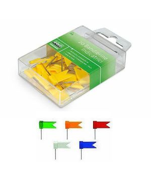 Scatola 20 spilli a bandierina verde art.269 269-V 4970115451348 269-V_26020 by Esselte