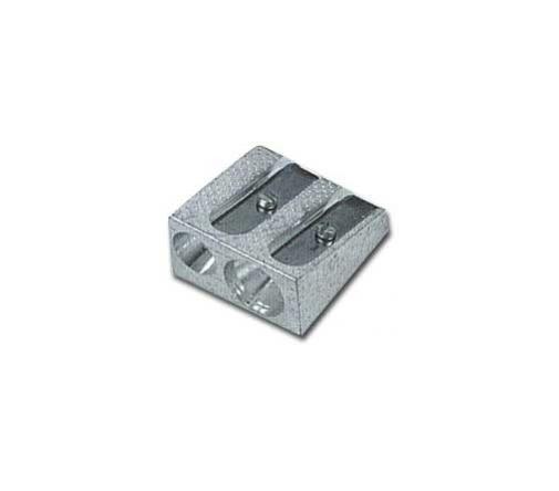 Temperamatite 2 fori in metallo cuneiforme art.020 Confezione da 20 pezzi 020_26523 by Lebez