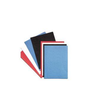 100 copertine leathergrain 250gr a4 blu goffrato CE040029_26994
