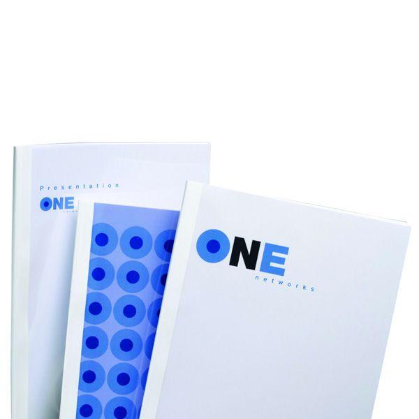 100 cartelline termiche 4mm bianco optimal TC080470 5019577194956 TC080470_27072 by Gbc