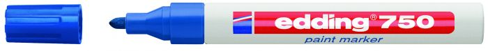 Marcatore edding 750 punta media vernice blu E-750 003 4004764953080 E-750 003_27551 by Edding