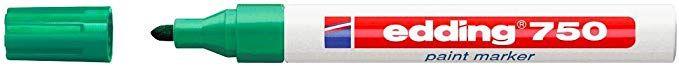Marcatore edding 750 punta media vernice verde E-750 004 4004764953110 E-750 004_27552 by Edding