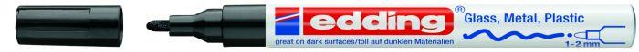 Marcatore edding 751 punta fine vernice nero E-751 001 4004764953202 E-751 001_27563 by Edding
