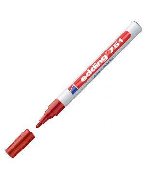 Marcatore edding 751 punta fine vernice rosso E-751 002 4004764017478 E-751 002_27564 by Edding
