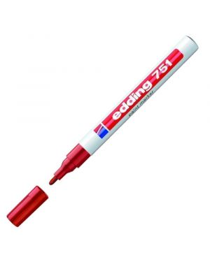 Marcatore edding 751 rosso punta fine 1-2mm vernice smalto E-751 002_27564 by Edding