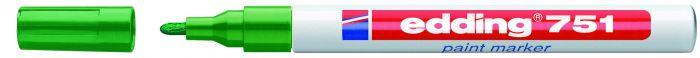 Marcatore edding 751 punta fine vernice verde E-751 004 4004764017492 E-751 004_27566 by Edding