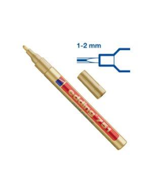 Marcatore edding 751 oro punta fine 1-2mm vernice smalto E-751 053_27568 by Edding