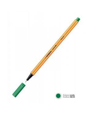 Pennarello stabilo point 88/36 verde Confezione da 10 pezzi 88/36_27691 by Stabilo