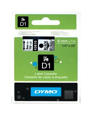Nastro dymo tipo d1 (6mmx7mt) nero - trasparente 436100 S0720770 5411313436106 S0720770_27839 by Dymo