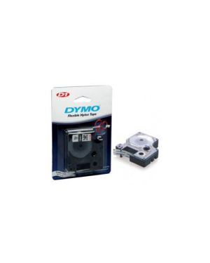 Nastro dymo tipo d1 (12mmx7m) nero/trasparente 450100 S0720500_27858 by Dymo