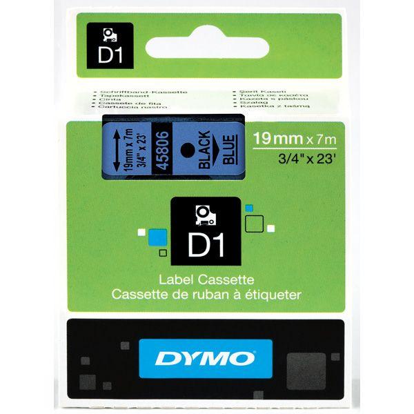 Nastro dymo tipo d1 (19mmx7mt) nero - blu 458060 S0720860 5411313452168 S0720860_27882 by Dymo