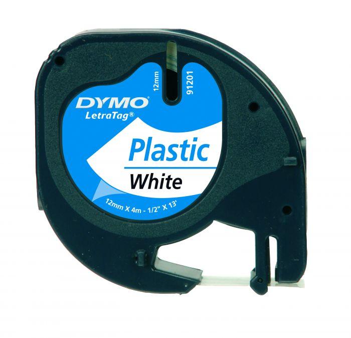Nastro in plastica dymo letratag 12mmx4m bianco 912010 S0721610 5411313912013 S0721610_27936 by Dymo