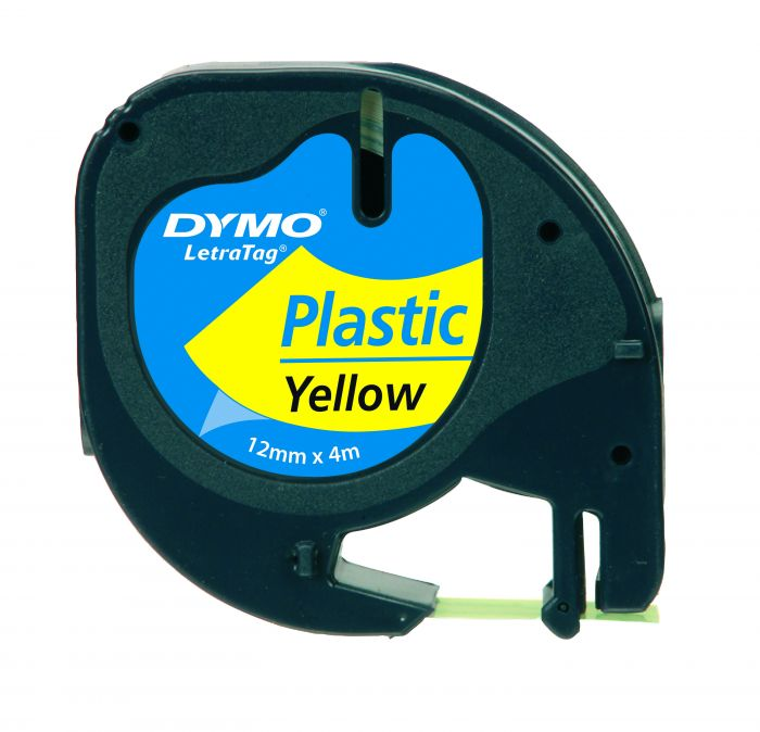Nastro in plastica dymo letratag 12mmx4m giallo 912020 S0721620 71701913326 S0721620_27937 by Dymo