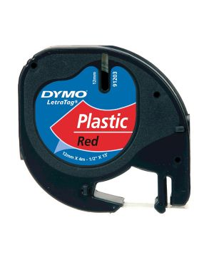 Nastro in plastica dymo letratag 12mmx4m rosso 912030 S0721630 5411313912037 S0721630_27938 by Dymo
