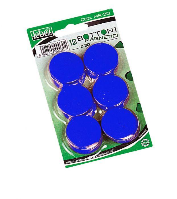 Blister 12 magneti mr-30 nero diam.30mm MR-30-N 8007509002438 MR-30-N_27945 by Lebez