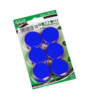 Blister 12 magneti mr-30 nero diam.30mm MR-30-N 8007509002438 MR-30-N_27945 by Esselte