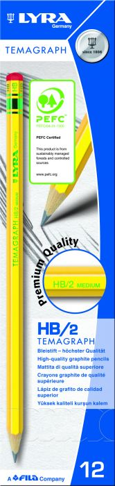 Scatola 12 matita temagraph hb grafite lyra L1140100 4084900103081 L1140100_28057 by Lyra