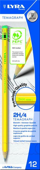 Scatola 12 matita temagraph 2h grafite lyra L1140112 4084900103142 L1140112_28059 by Lyra