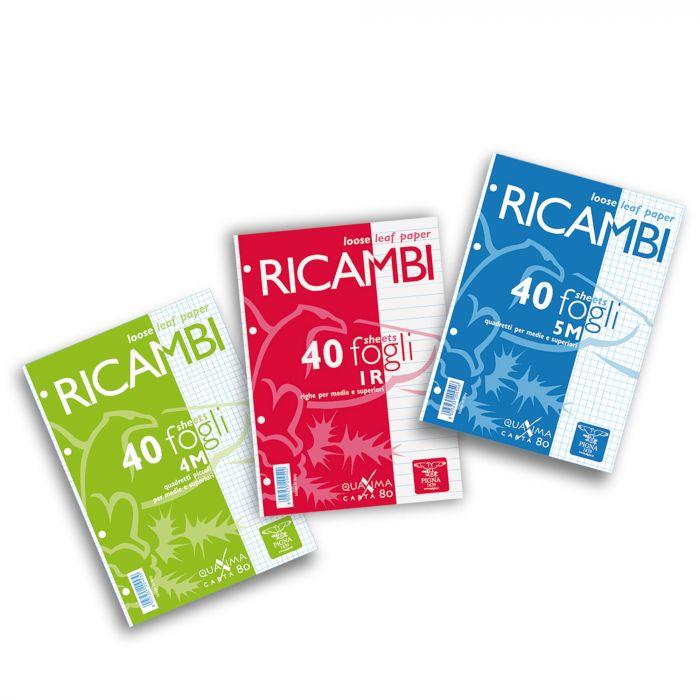 Ricambi forati a5 1rigo 80gr quaxima 40fg 80gr pigna 00629041R 8005235204522 00629041R_28829 by Pigna