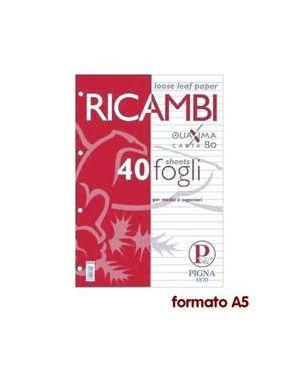 Ricambi forati a5 1rigo 80gr quaxima 40fg 80gr pigna 00629041R_28829 by Pigna