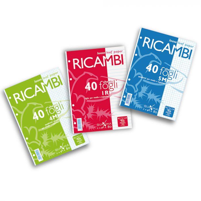 Ricambi forati a4 4mm quaxima 40fg 80gr pigna 00629034M 8005235204492 00629034M_28845 by Pigna