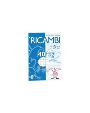 Ricambi forati a4 4mm quaxima 40fg 80gr pigna 00629034M_28845 by Esselte