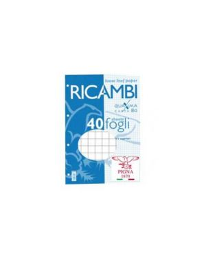 Ricambi forati a4 5mm quaxima 40fg 80gr pigna 00629035M_28846 by Esselte