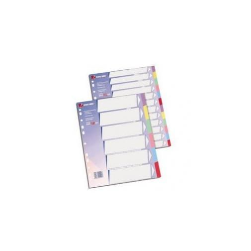 Separatore 6 tasti colorati cartoncino 225gr 21x29,7 king mec 00022100_29179 by Rexel