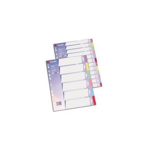 Separatore 12 tasti colorati cartoncino 225gr 21x29,7 king mec 00026000_29182 by Rexel
