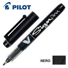 Pennarello v signpen nero pilot Confezione da 12 pezzi 001500_29269 by Pilot