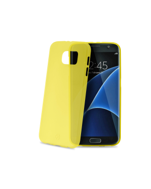 Frost cover galaxy s7 edge yellow Celly FROSTS7EYL 8021735716938 FROSTS7EYL by No