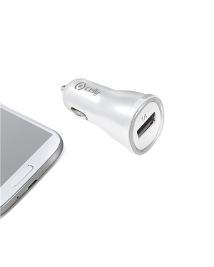 Car charger 1a with usb port white Celly CCUSBW 8021735100973 CCUSBW
