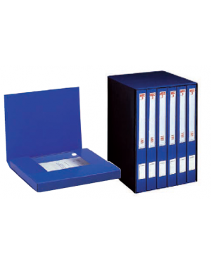 Gruppo registratori mec 3 terzetto blu c/cartellette 23x32cm, dorso 15 cm 00018604_29435
