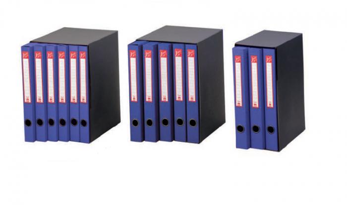 Terzetto jazz 3 blu c/cartelle 25.5x34.5cm, dorso 15 cm 00121304_29456 by King Mec
