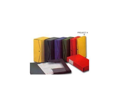 Scatola project 4 rosso 25x35cm, dorso 4cm Confezione da 5 pezzi 00023311_29536 by King Mec