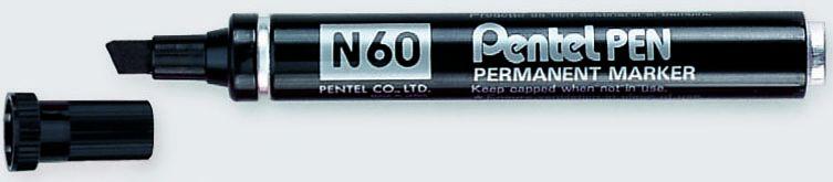 Marcatore pentel pen n60 nero p.scalpello N60-A 3474370160010