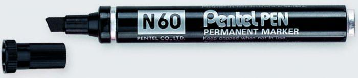 Marcatore pentel pen n60 nero p.scalpello N60-A 3474370160010 N60-A_29890 by Pentel