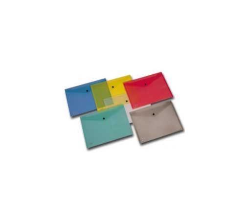 Busta con bottone pull colorata 21x29.7cm Confezione da 5 pezzi 00111355_30049 by King Mec
