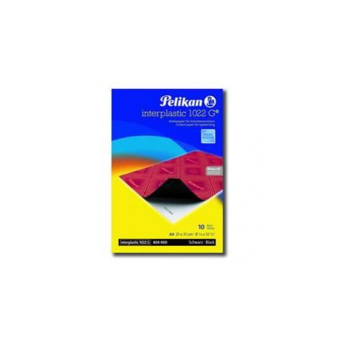 Carta carbone nero interplastic 1022g 10fg 21x31cm pelikan 0C01AA_30473 by No