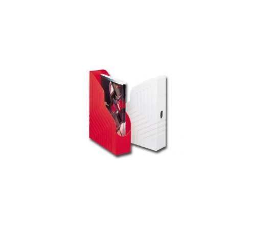 Portariviste magazine rack rosso 25x32cm dorso 8cm 00045011_30609 by Rexel