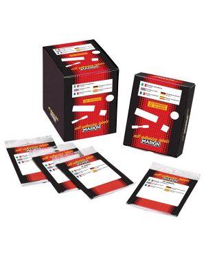 Etichetta adesiva bianca 56x26mm (10fogli x 10etichette) markin CONFEZIONE DA 25 10040_31106 by Esselte