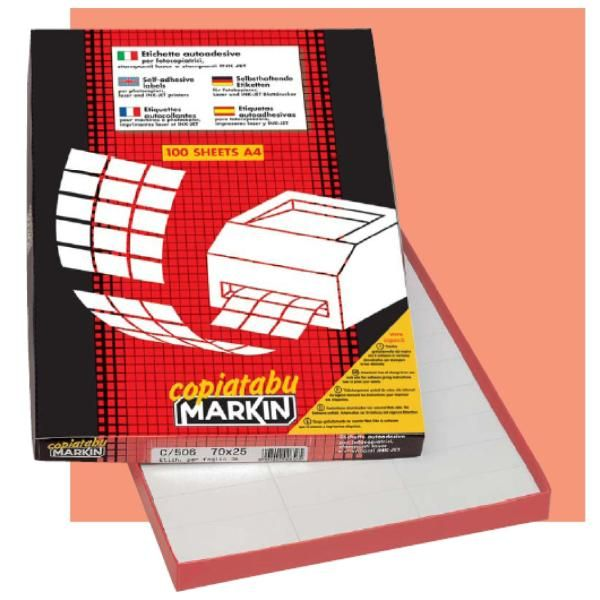 etichette    105x36 blu Markin 210C501 8007047021670 210C501_31135 by Markin