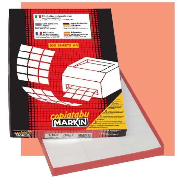 etichette   105x72 Markin 210C502 8007047021748