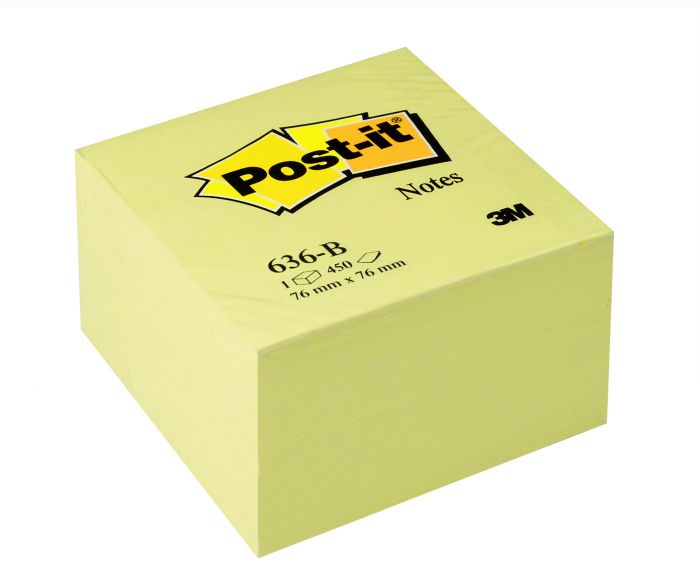 Blocco cubo 450fg post-it®giallo canary™ 76x76mm 636-b 35286 3134375231626 35286_32033 by No