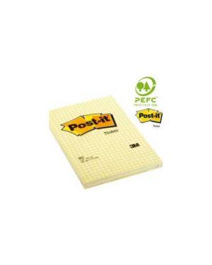 Blocco 100fg post-it®giallo canary™ 102x152mm giallo a quaderetti 662 Confezione da 6 pezzi 70209_32163 by Esselte