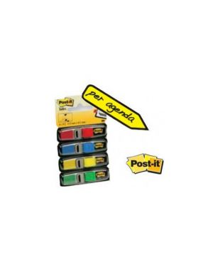 Miniset 140 segnapagina post-it index 683-4 in 4 colori classici 12x43.6mm 27109_32216 by Esselte