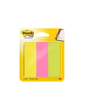 Segnapagina post it 671 3 (300fg) 3colori index 25x76mm in carta 36339._32226 by Esselte